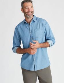 Rivers Long Sleeve Lightweight Denim Shirt