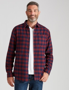 Rivers Long Sleeve Flannelette Buffalo Check Shirt