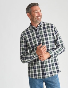 Rivers Long Sleeve Herringbone Check Shirt