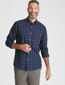 Rivers Long Sleeve Linear Check Shirt