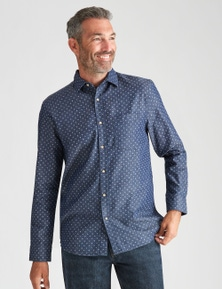 Rivers Long Sleeve Printed Denim Shirt