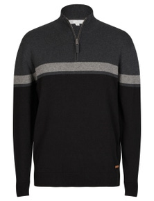 Rivers Stripe Quarter Zip Jumper