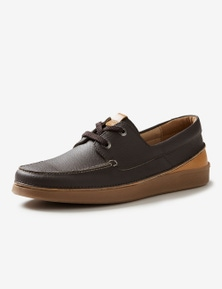 Rivers Leather Lace Up Boat Shoe