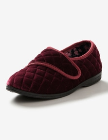 Rivers Memory Foam Quilted Rip Tape Slipper