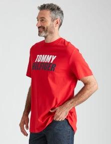 Tommy Hilfiger Mens Short Sleeve Logo Tshirt