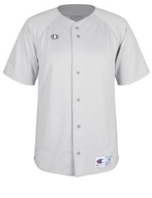 Champion Mens Jersey Short Sleeve Full Button Top