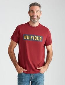 Tommy Hilfiger Mens Short Sleeve Boxed Logo Tshirt