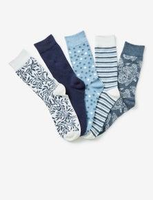Rivers Jacquard 5 Pack Sock
