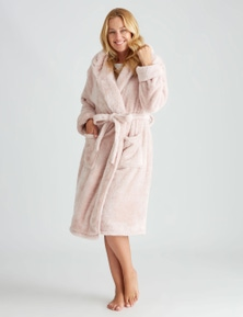 Rivers Fluffy Hooded Robe