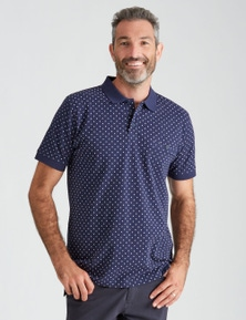 Rivers Short Sleeve Geo Print Polo