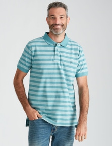 Rivers Short Sleeve Feeder Stripe Polo