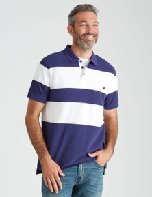 Rivers Short Sleeve Panel Polo