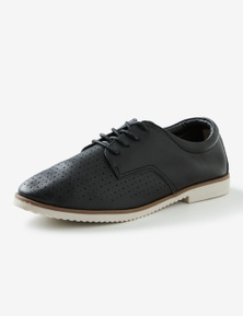 Rivers Leathesoft Pin Punch Lace Up Casual Shoe