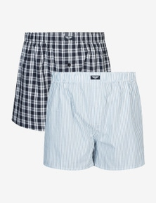 RIVERS 2 PACK WOVEN BOXER