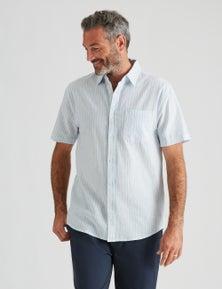 Rivers Short Sleeve Linen Cotton Stripe Shirt