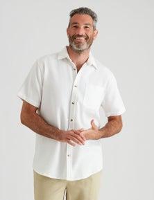 Rivers Short Sleeve Plain Cotton Shirt