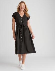 Rivers Button Detail Tie Waist Maxi Dress