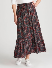 Rivers Textured Tiered Maxi Skirt