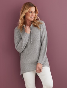 Rivers Hooded Knit Pullover
