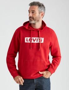 Levi's Mens Box Tab Fleece Hoodie