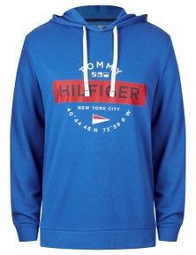 Tommy Hilfiger Mens Graphic French Terry Hoodie
