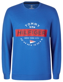 Tommy Hilfiger Mens Graphic French Terry Long Sleeve Crew Jumper