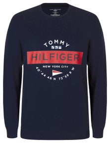 Tommy Hilfiger Mens Graphic Print Terry Jumper