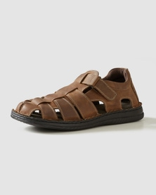 Rivers Memory Foam Leather Sandal