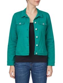 Rockmans Long Sleeve Straight Panel Denim Jacket