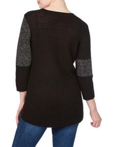 Rockmans 3/4 Sleeve Colour Block Knit