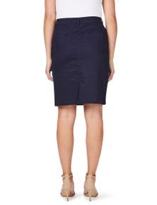 Rockmans Knee Length Coloured Denim Skirt