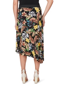 Tropical Layer Print Skirt