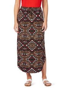 Rockmans Tribal Print Maxi Skirt