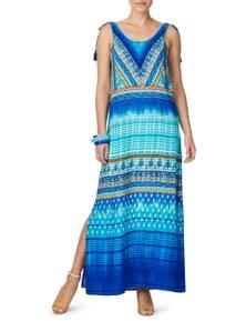 Rockmans Sleeveless Oceanic Print Maxi Dress