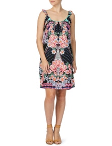 Rockmans Sleeveless Flutter Sleeve Floral Sundress