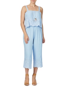 Rockmans Sleeveless Embroidered Jumpsuit