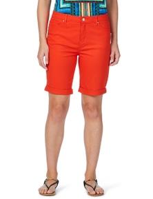 Rockmans Side Zip Solid Colour Denim Short