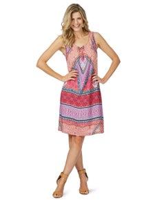 Rockmans Sleeveless Rhapsody Print Dress