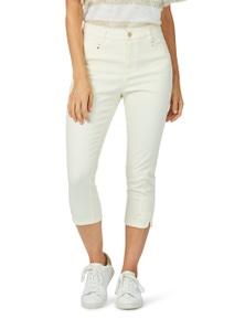 Rockmans Crop Curved Hem Slim Leg Jean
