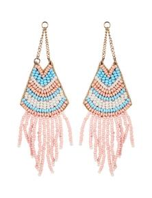 Amber Rose Chandelier Bead Earrings