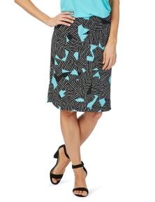 Rockmans Abstract Print Pencil Skirt