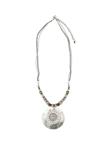 Amber Rose Shell Tribal Necklace