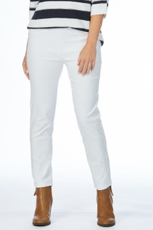 Rockmans Ankle Length Embroidered Pant