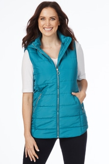 Rockmans Sleeveless Mid Length Puffer Vest