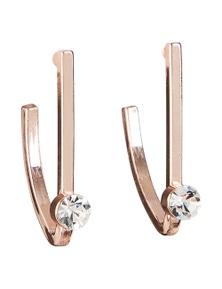 Amber Rose Diamonte Hoop Earrings