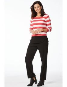 Rockmans 3/4 Sleeve Block Stripe Essential Knit