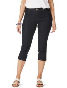 Rockmans Crop Slim Leg Comfort Waist Jean