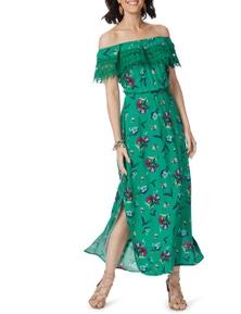 Rockmans Shortsleeve Off Shoulder Maxi Dress