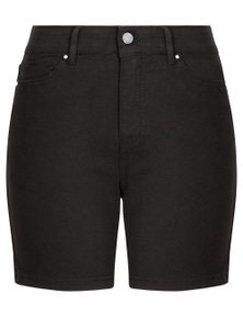 Rockmans Mid Thigh Solid Denim Short