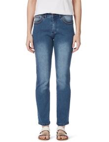 Rockmans Full Length Straight Leg Rose Gold Jean